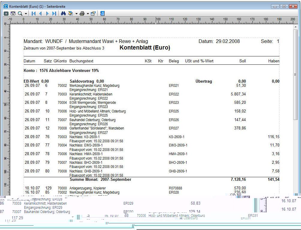 Finanzbuchhaltung Leipzig Rechnungswesen Warenwirtschaft